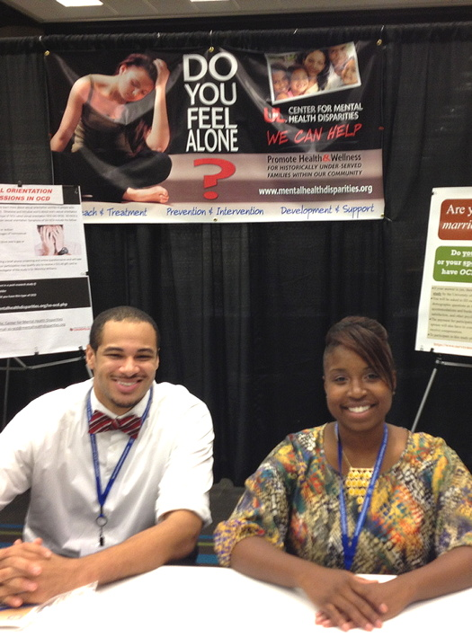 Darlene and Broderick at a booth at IOCDF 2013